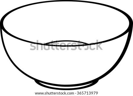 empty bowl - stock vector