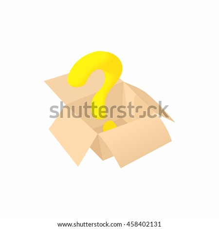 Empty box icon in cartoon style isolated on white background. Storage symbol - stock vector