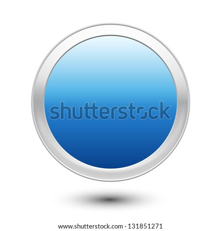 Empty Button - stock vector