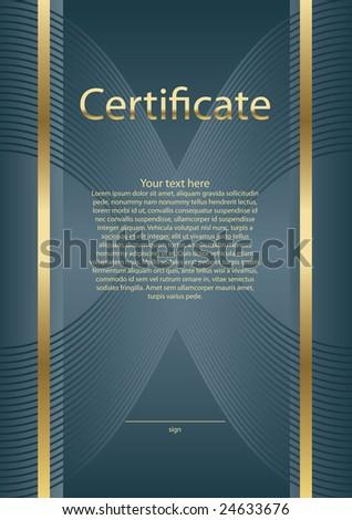 empty certificate background - stock vector