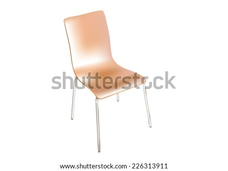 Empty Chair isolated on white background - stock vector