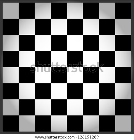 Empty chess board - stock vector