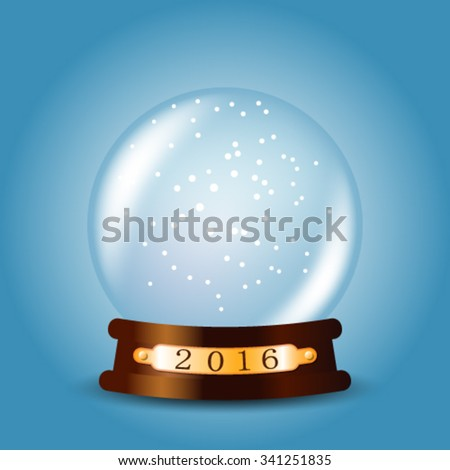 Empty christmas snow globe. EPS 10
