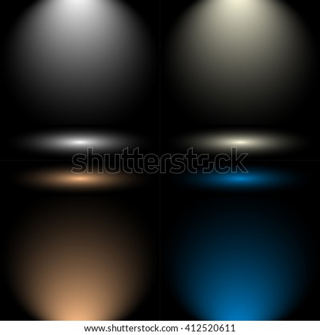 Empty Circular Dark Grey gradient with Black solid vignette lighting Studio wall and background well use as backdrop. Background empty room with space for your text and picture. Vector Illustration - stock vector