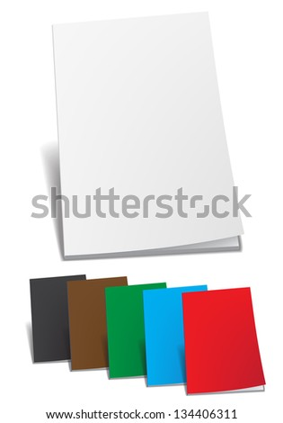 Empty color brochure. Vector illustration. - stock vector