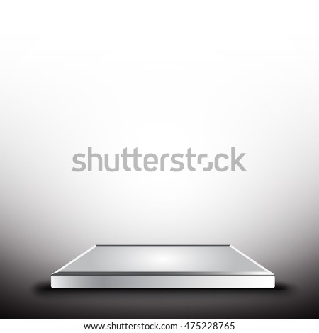 Empty concrete table top on concrete gradient background, Template mock up for display of your product.