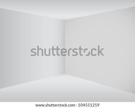 Empty corner in the room - Vector - stock vector