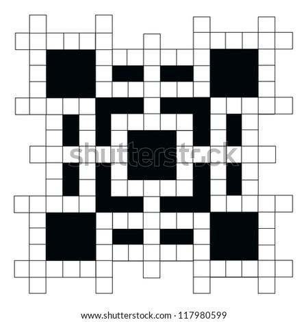 empty crossword puzzle - stock vector
