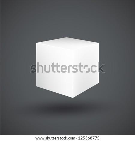 Empty cube. Vector design. - stock vector