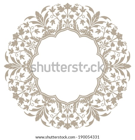 Empty decorative unit - stock vector