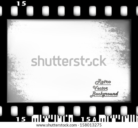 Empty Film Frame, old fashioned - stock vector