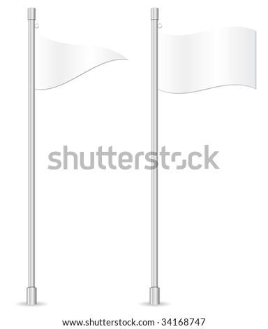 empty flags in vector mode - stock vector