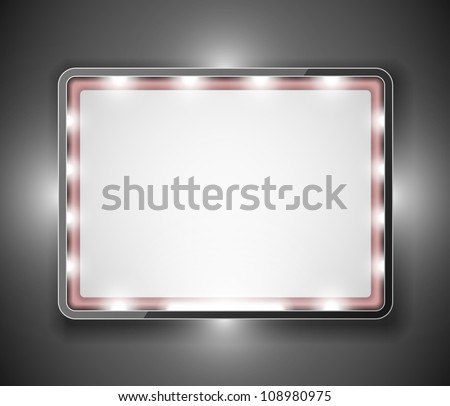 Empty frame in form of rectangle for your text. Eps 10 - stock vector