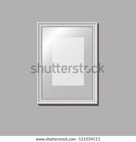 Empty frame on the wall, pattern, vector illustration