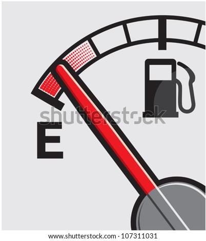 Empty gas tank - stock vector
