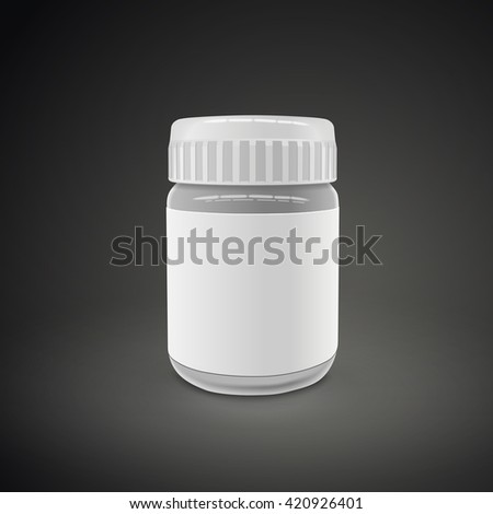 empty glass jar isolated on black background. 3D illustration.