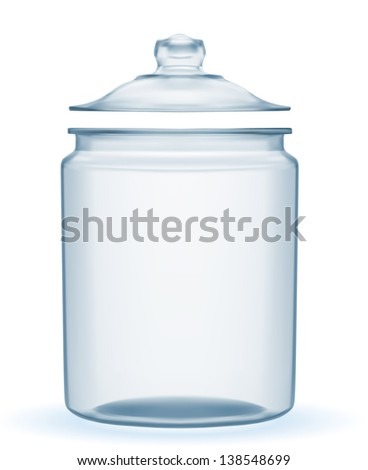 Empty glass jar vector EPS-10. - stock vector