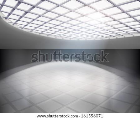 Empty hall. Vector illustration. - stock vector
