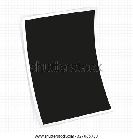 Empty instant photo frame - stock vector