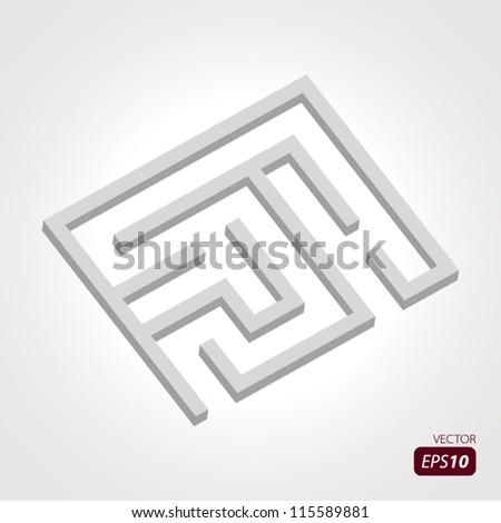 Empty Labyrinth - stock vector
