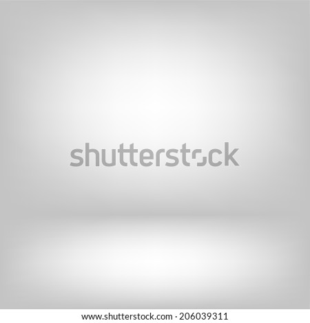 Empty light interior. Gray room abstract background  - stock vector