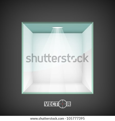 Empty niche for exhibit, vector illustration, eps10, easy editable, 6 layers - stock vector