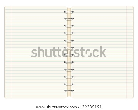 empty notebook to place your concept. vector design - stock vector