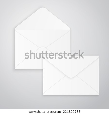 Empty open and closed envelopes, vector illustration - stock vector