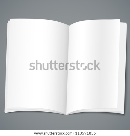 Empty open brochure design template. Vector illustration - stock vector