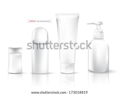 Empty packaging tubes. Vector illustration.  - stock vector