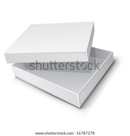 empty paper box vector illustration isolated on white background - stock vector