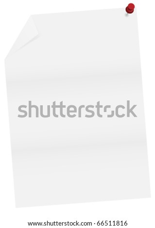Empty paper sheet - stock vector