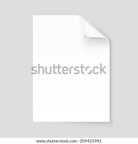 Empty paper sheet. Vector EPS10 - stock vector