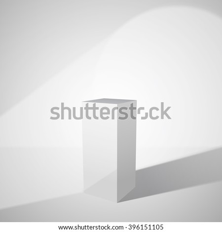 Empty pedestal with spot light for presentation of product. Vector eps10 format. - stock vector