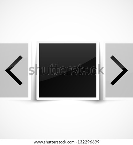 Empty photo frame as image gallery. Vector illustration - stock vector