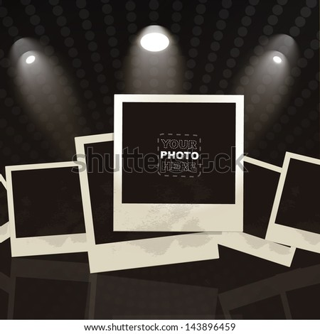 empty photo frame to place your concept - stock vector