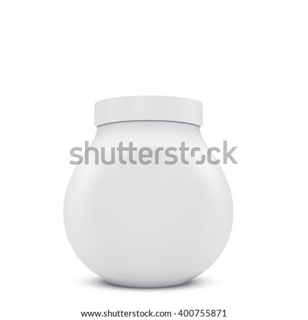 Empty plastic jar - stock vector