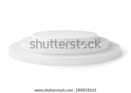 Empty platorm scence studio vector isolated on white background