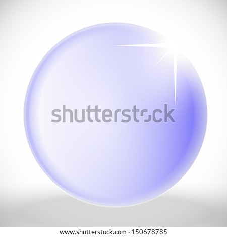 Empty purple ball with star