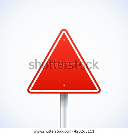 Empty road sign - stock vector
