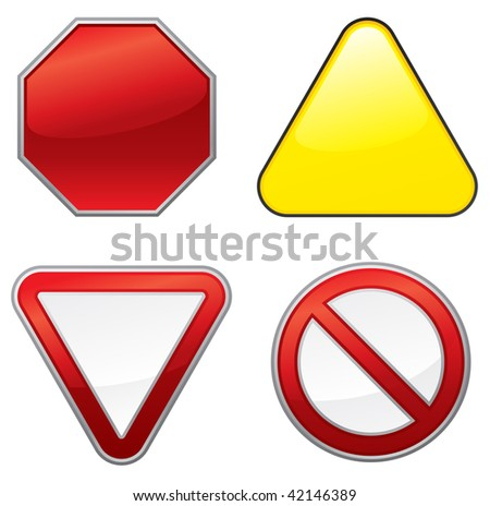 Empty road signs - stock vector