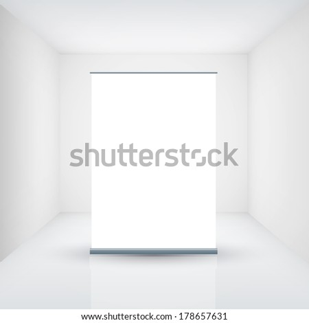 empty roll up - stock vector