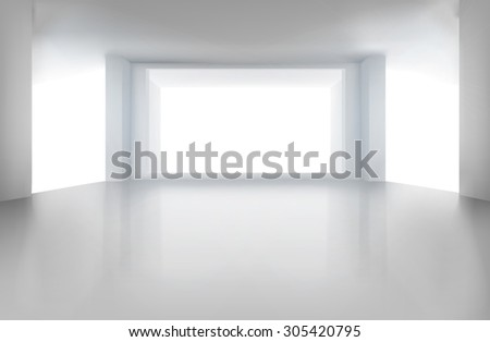 Empty room. Vector illustration. - stock vector