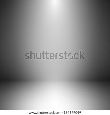 Empty room with illumination - eps10 - stock vector
