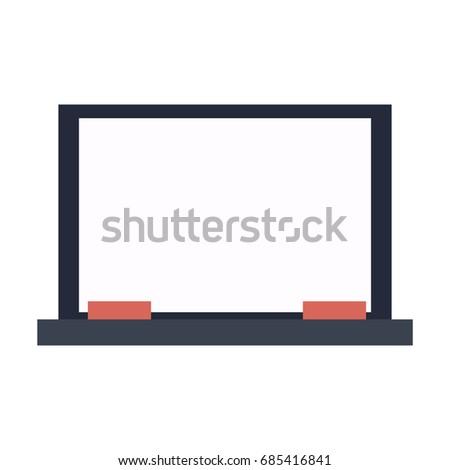 empty school chalkboard texture frame eraser stock vector 685416841