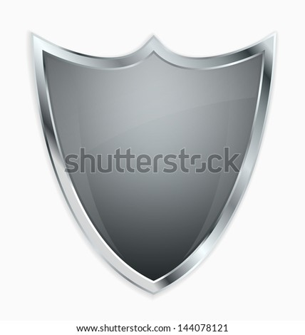 Empty shield with place for your emblem - stock vector