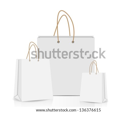 Empty Shopping Bag  for advertising and branding vector illustration - stock vector