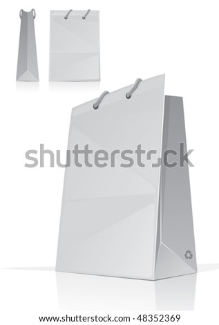 Empty shopping bag for new design, vector