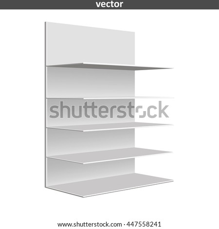 Empty showcase. Illustration isolated on white background. Graphic concept for your design - stock vector