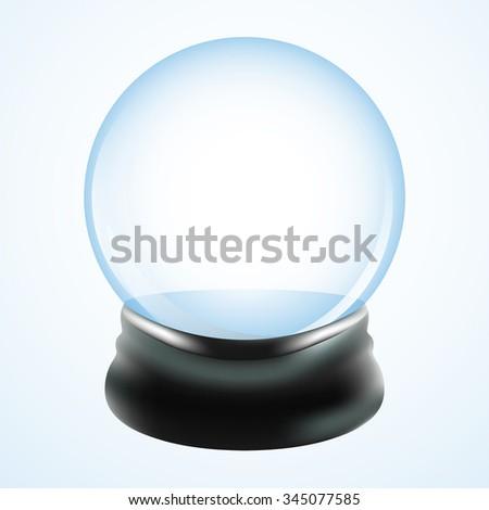 Empty snow globe template. Vector design illustration. - stock vector